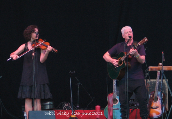 Bruce Cockburn and Jenny Scheinman 26June2011 Kate Wolf Memorial Music Festival