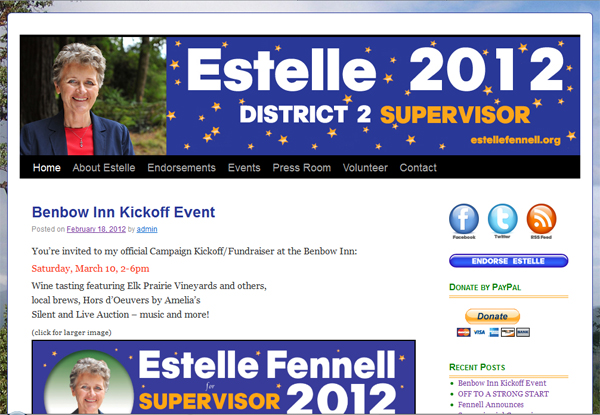 Estelle 2012 - Estelle Fennell for District 2 Supervisor Humboldt County