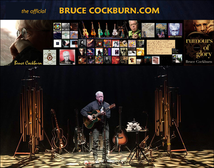 BruceCockburn.com site launch promo - 7 March 2016